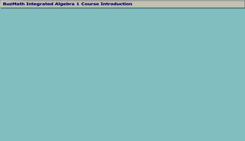 Algebra 1 Home